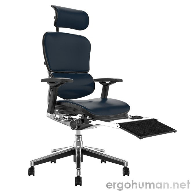 Ergohuman Elite Leather Office Chair with Leg Rest